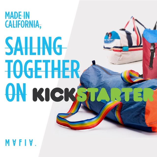Getting new challenges!  Make it happen on @kickstarter  #madeincalifornia #sails #windsurf #kite #kickstrarter #backpacks #bags #winds  https://www.kickstarter.com/projects/1637475668/mafia-bags?ref=email