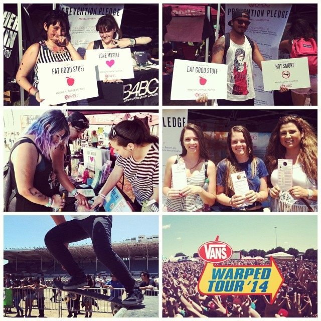 CHECK ONE, TWO // We had a blast educating fans at @WarpedTour in #Pomona today! Music, education, sunshine, and fun...what more can you ask for to celebrate 20 years of #WarpedTour! #B4BC's next stop will be at #Ventura this Sunday. Come find us,...