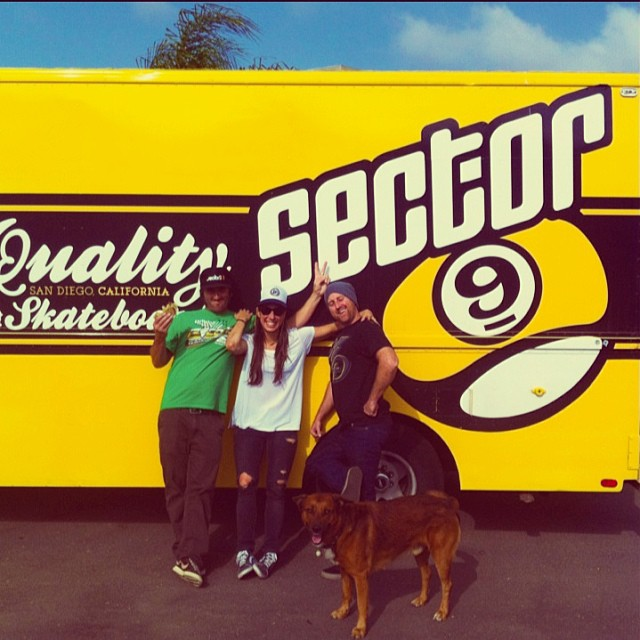 We had a blast visiting the @sector9 HQ in San Diego. Got a complete tour of the factory and had fun with these two @egfratantaro & @sk8withbudro. Thanks for all! #wemakefun