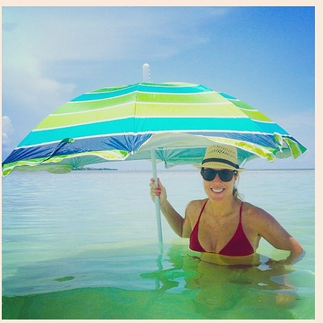 Courtney finding some shade in the keys!  Regram from @courtneyannbaker