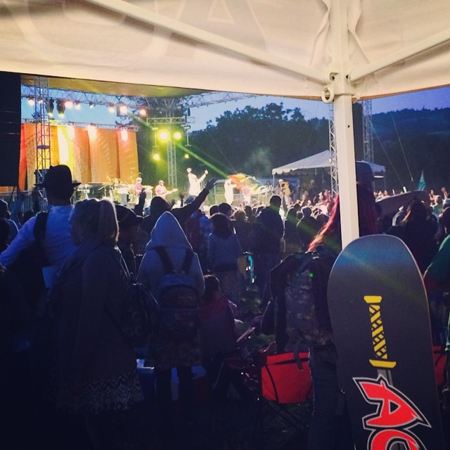 Day 2 at the Sierra Nevada Music Festival is going off!! #reggaemusic #goodmusic #goodpeople #greatsnowboards #snmv2014 #boonvilleCA