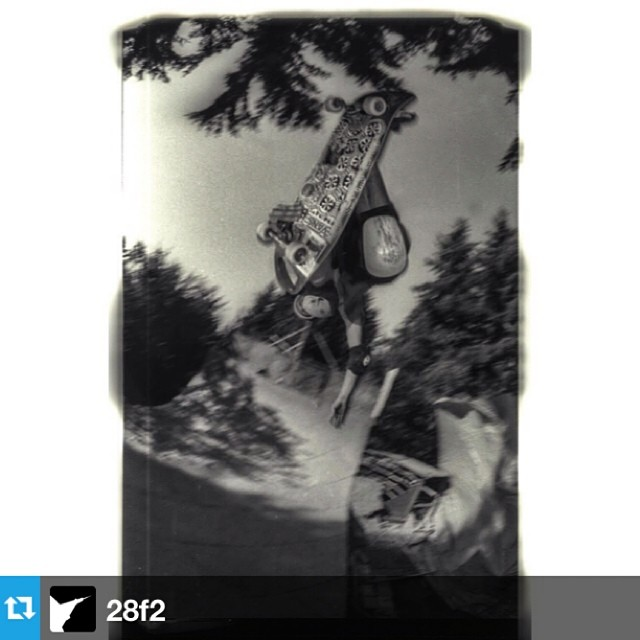 #Repost from @28f2 Chris Brunkhart. #goskateboardingday --- go skate day circa 1994 granny's ramp, seattle wa.