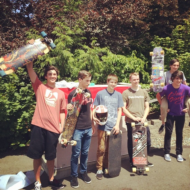 Bridgepins podium, finished with a six man heat! #bridgepins #dblongboards #podium