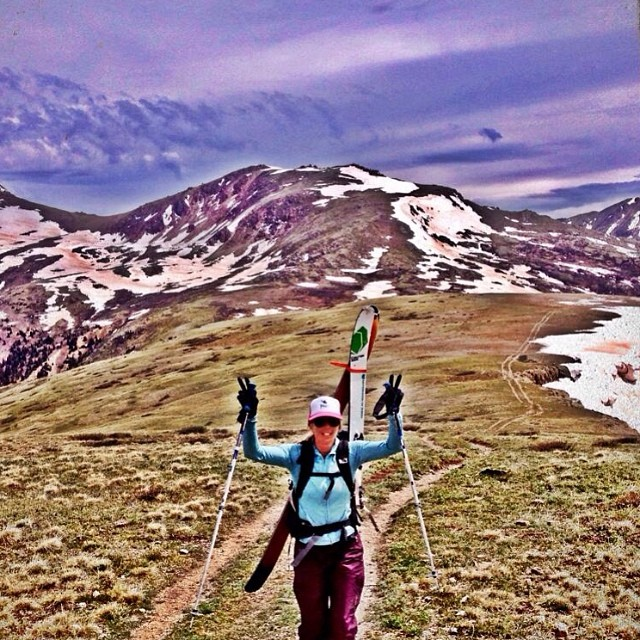 This is how we celebrated the #summer #solstice. How about you? #skiing #Colorado #14ers #sisterhoodofshred