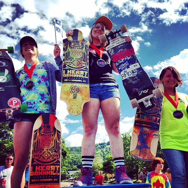 Ladies podium #ilovedh2014 1-Emily Pross 2- Cassandra Duchesne 3-Kayla Denise u ladies killed it