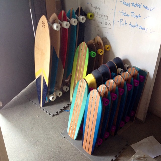 A lot of boards hitting the website soon! 5 pintails, 3 hybrids, 4 campus cruisers, and 1 oak cruiser!!! #handmade #skateboard #nashville #surfnashville