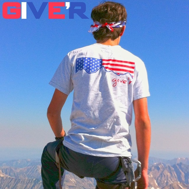 Red, White & BOOM shirts are back in stock for the summer! Free red white and blue Give'r stickers comes with this shirt for a limited time!( shown in picture) #MERICA!