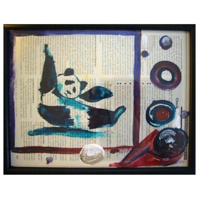 Un panda juguetón by Neil Blender #arte #artevans