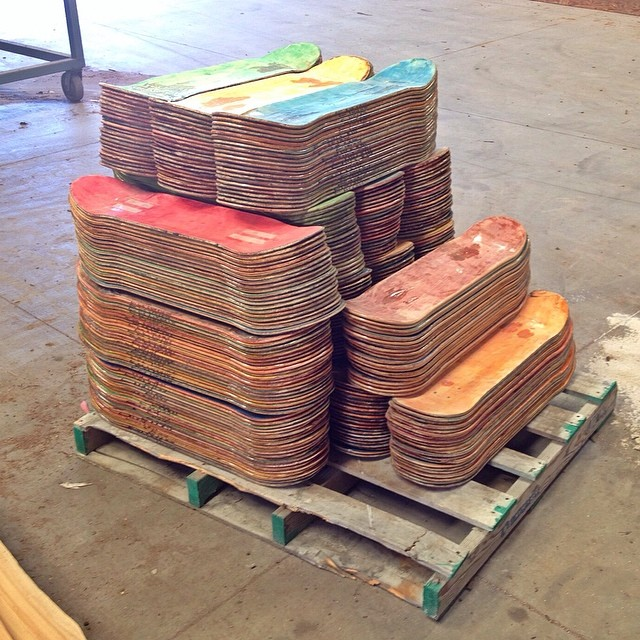 Time to cut these recycled decks up for the next batch of Iris Skateboards! #recycledskateboards #irisskateboards