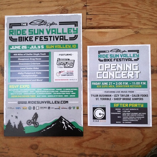 This Friday 27th we are stoked to be apart of this years @ridesunvalley event! Come support local music artist while having a hell of a good time watching athletes crush the bike race. For all you legal cats out there DJ CHOYBOY will be layin' down the...