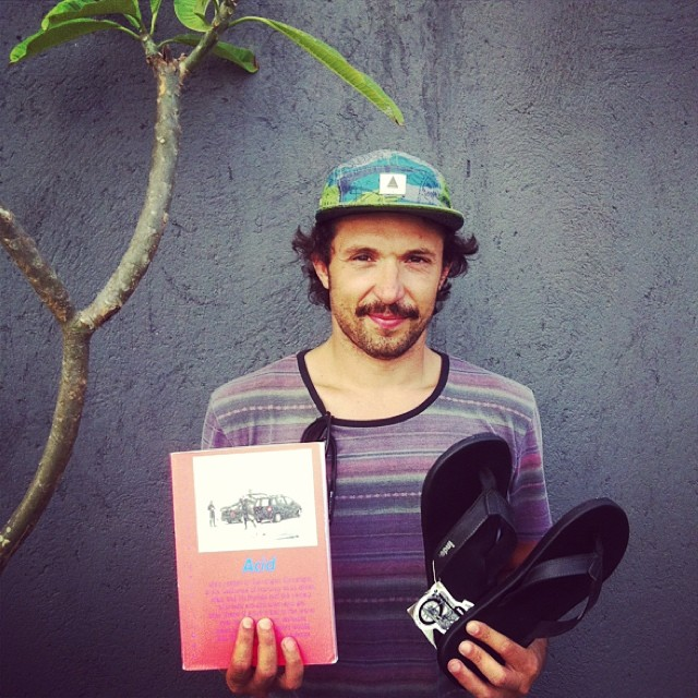 """Our intention is to create a magazine that's intellectually and visually stimulating...far from the usual surf tropes"" - #acidsurf  co-founder Xavier and his fresh pair of #double6sandals"