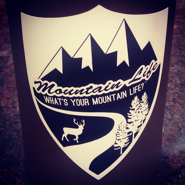 "Our newest badge #decal available on Good People.com/theMountainLife ""What's Your #MountainLife?"" #hydroflask #mountainlifeco #mountaingram #adventure #alpine #boarding #BMX #backcountry #biking #bouldering #climbing #camping #cycling #flyfishing..."