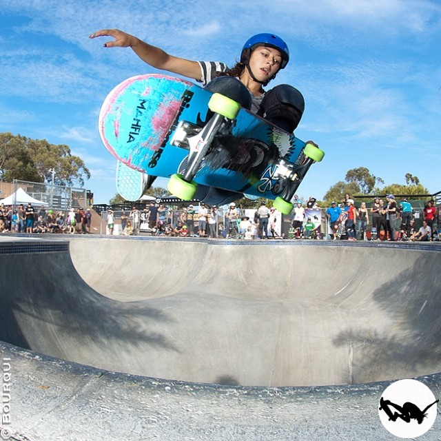 @lizziearmanto in the deep, #EXPOSURE2013. #skateboarding #skate #skatelife #skatergirl #skatepark