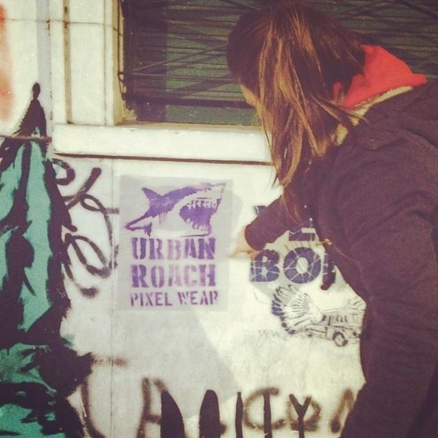 #pasteup #wheatpaste #poster #streetart #graffiti #shark ⚓️❤️