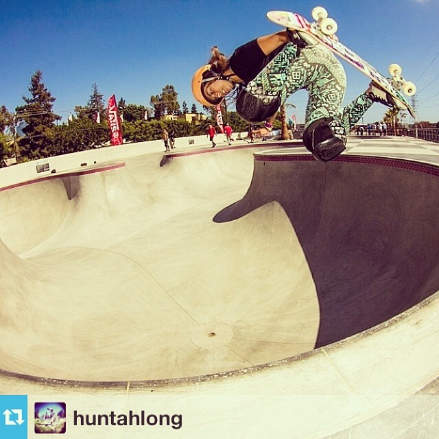 #Repost from @huntahlong enjoying #cali this week #xshelmets #hunterlong #travel #skate