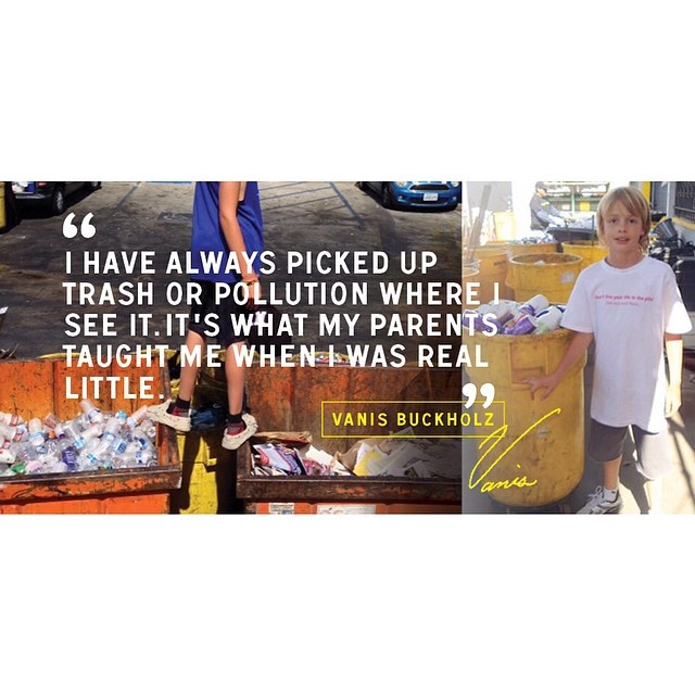 This week's #goodhuman feature. Meet Vanis Buckholz of My Recycler - a recycling business he has run since 10 years old. #saveyourbottles #vanisforpresident