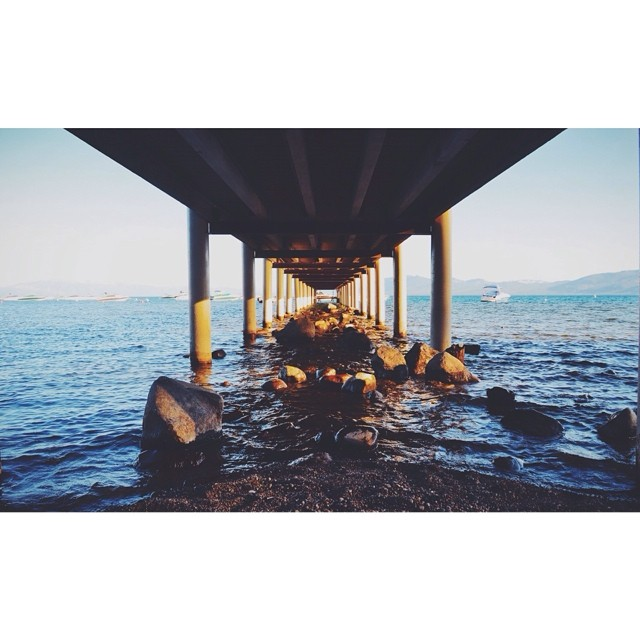 Finding balance in one of our favorite spots // #thisistahoe #summerishere #tahoemade