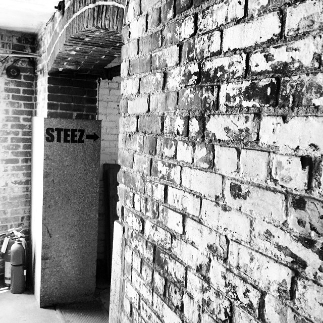 This way to steez at our new office #peabodyma #massachusetts #brickbuilding #leathertannery