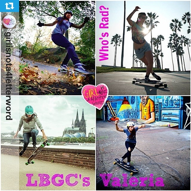 #Repost from @girlisnota4letterword @valeriakechichian is featured on Who's Rad today on girlisnota4letterword.com! Valeria  is the co-founder of the @longboardgirlscrew and really promotes girls in #skateboarding. She travels the world, lives life to...
