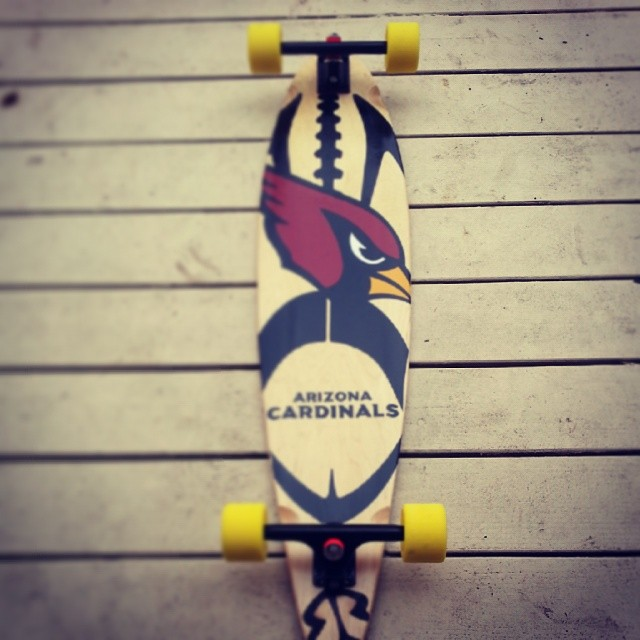 Go Cards! #customlongboard #arizonacardinals #longboard