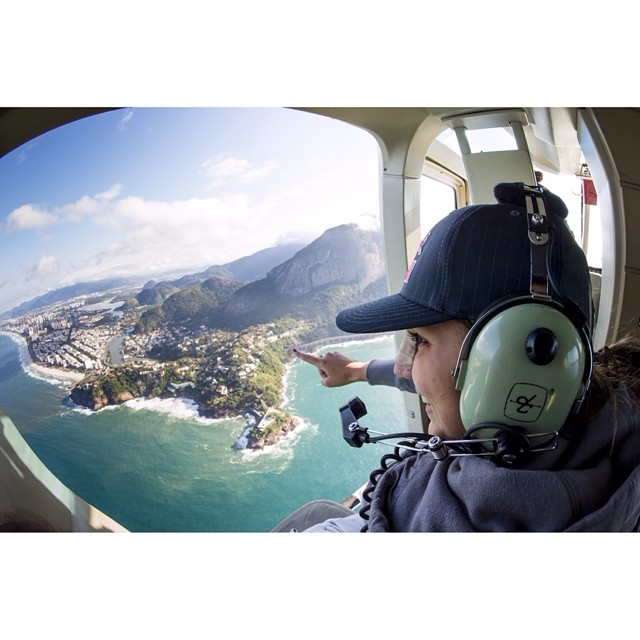Best way to see Rio? A heli ride with @mgabeira as your tour guide. #justforkicks