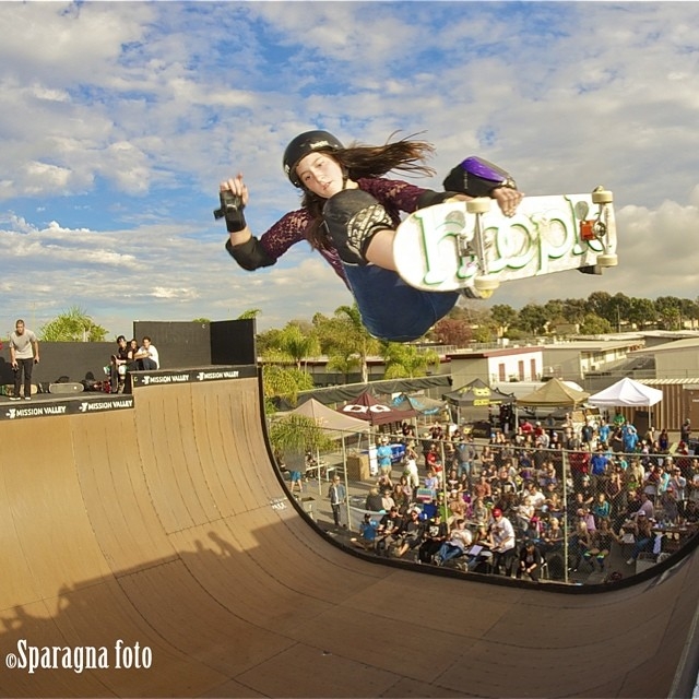 Nicole Hause (@nicolehause), frontal attack at #EXPOSURE2013. #skateboarding #skate #skatelife #skatevert #vert #skatergirl
