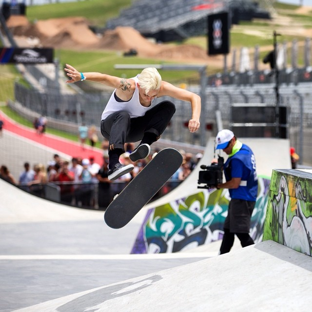 Lacey Baker enjoying that golden feeling #XGamesAustin