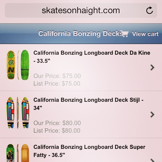 @bonzing Skateboards now available at Skates On Haight. Visit Skatesonhaight.com!  #bonzing #sanfrancisco #shapers #artists