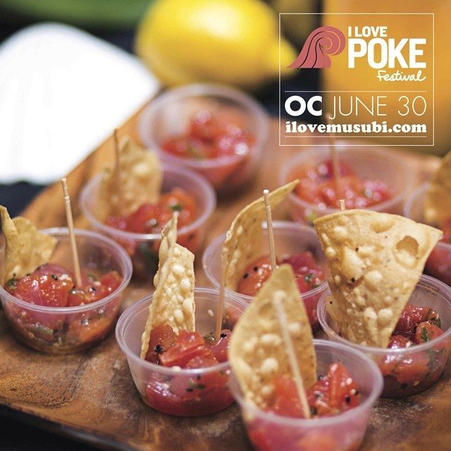 Can't wait for the #ilovepoke festival (in Huntington Beach) happening this Monday, June 30! (6-9pm) Went to the one in SD last month and the food was insane! Get a ticket online before it's sold out: http://ilovemusubi.com/poke/