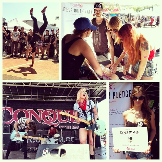 "CHECK ONE, TWO // It was a fun #WarpedWednesday for our educational outreach booth at @WarpedTour #ChulaVista. Today we were snuggled up to the #ShiraGirl stage and ""Yo, Bring It Back"" crew who were keeping fans active by hosting dance offs (break..."