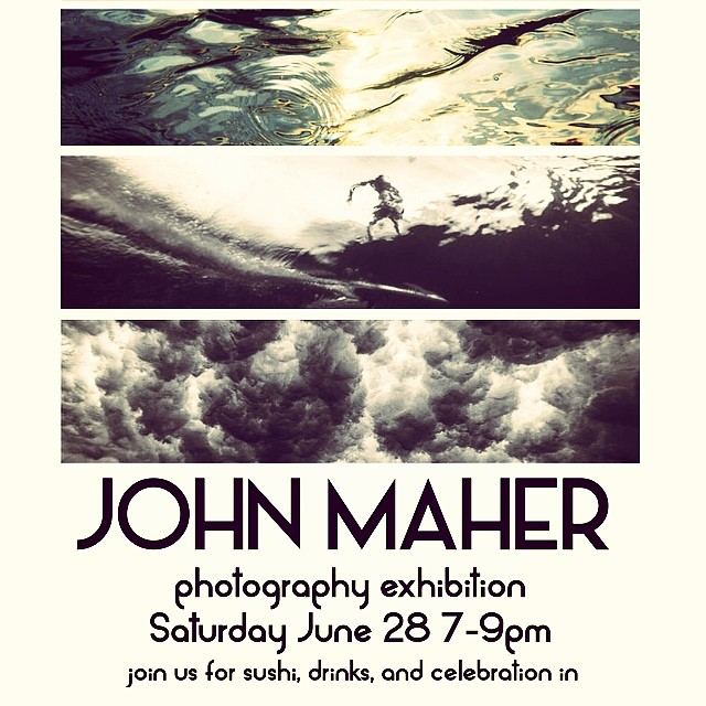 Join @john_maher_ and friends for an evening of fine photography and sushi eats and good cheer. The June 28 shindig starts at 7PM at Bliss 101: 687 S. Coast Hwy 101. Encinitas, CA