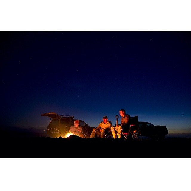 Campfire stories under starry skies. #thingswelove #firewaterfriends #camping