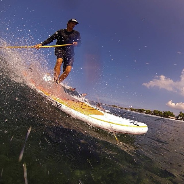 Have a ripping weekend. Rocking @konaboys #watergear @odinasurf @rareform @imaginesurf #itakebioastin photo by @swellliving #sup #inflatablesup #showupandblowup #surfing @gopro #goprohero #gp3 #gopro
