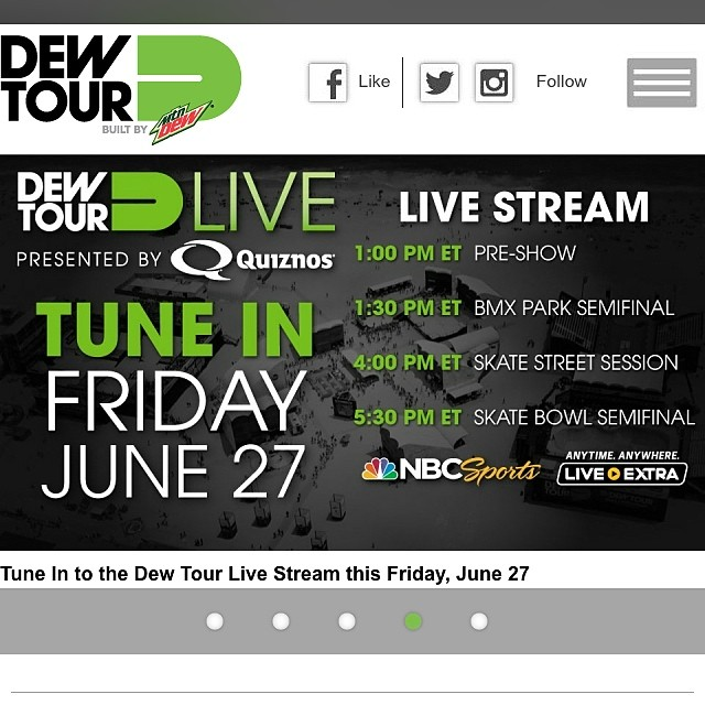 Catch @dakroche at the first stop of the #DewTour today! Good luck Dak! Check out Dakota Roche's trick breakdown on our Facebook page at www.facebook.com/bulthelmets #bulthelmets #bult