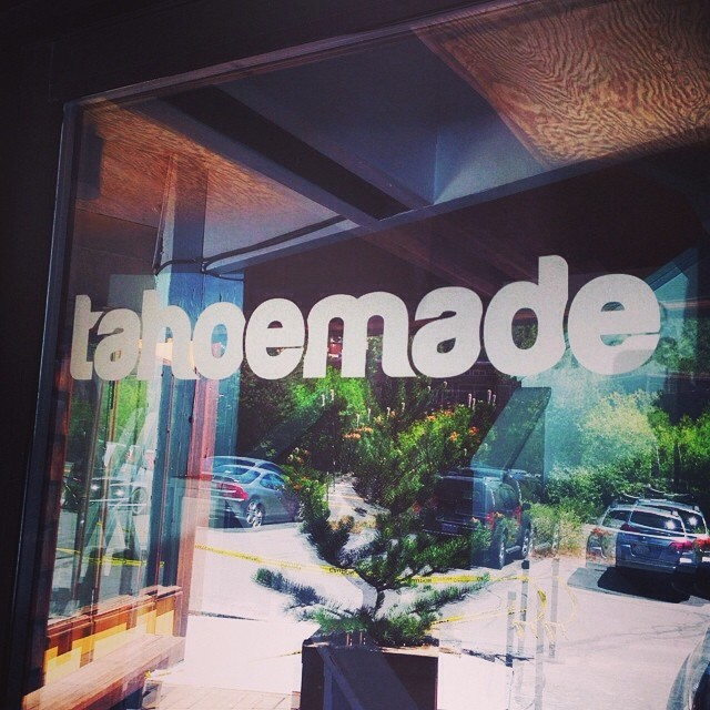 Got the decal up on the door of the new office space! // #psyched #tahoemade