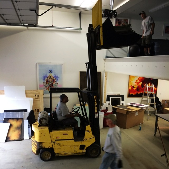 Moving day @asymbol. These guys are PRO. Sayonara old workshop... #BreakingGround