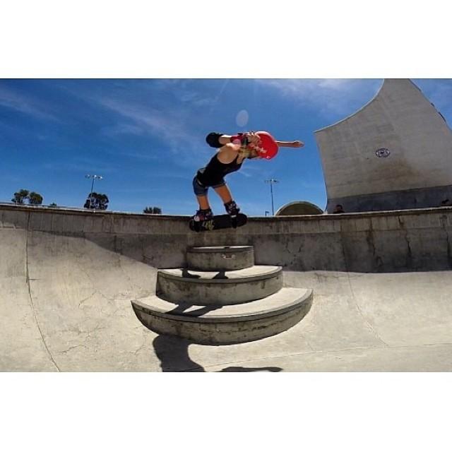 @bevmoskater takes the stairs! #skate #cali #xshelmets