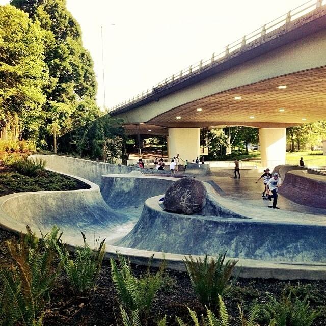 Regram @f_cooper_d #eugene #skatepark #dream #snakerun #allday #skateboarding