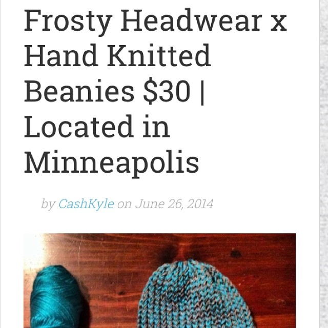 Rate our hand knitted beanies on #IMST⛄️#frostyheadwear