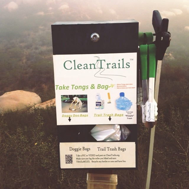 Be kind to the Land and help keep the trails clean