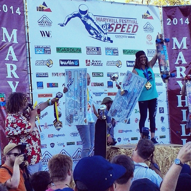 Big Congrats to Elena for snagging first and racking up those medals! Also congrats to Douglas Silva for winning the open class.  @e_coree #mfos #maryhill #podium #racing