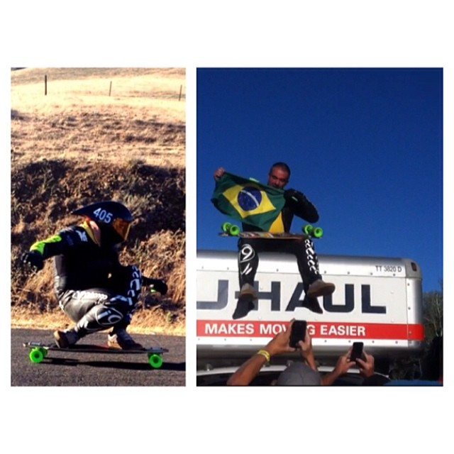 Congrats @douglasdalua the new #jefe at the #MaryhillFestivalOfSpeed !!!!!! Race shot from @nobull_longboarding #⃣1⃣