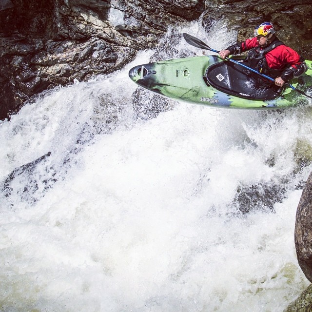Rapid descent. Steve Fisher navigates Hanging Spear Falls. #kayaking