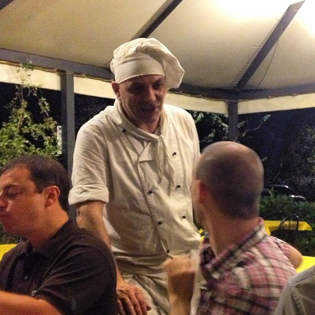 You know you're getting good pizza when it's served by this guy #tuscany #pienza #italy #pizza #authentic #wanderlust #travel #exploremore
