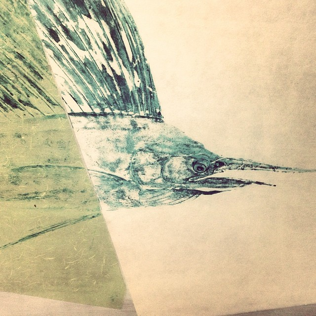 Started working on eyes today - getting more stoked about this piece. #richiegudzanart #gyotaku #respectthecatch