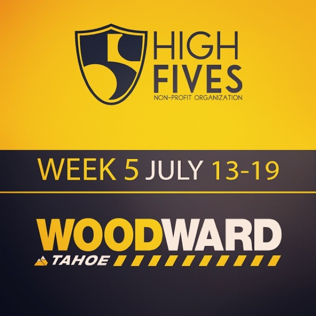 Have you signed up for the #High5ives Summer Camp Week 5 (July 13-19)? Head to @woodwardtahoe (woodwardtahoe.com) NOW, use the promo code FIVES14 and $50 will be donated to the @hi5sfoundation #WWTweek5 #woodwardtahoe