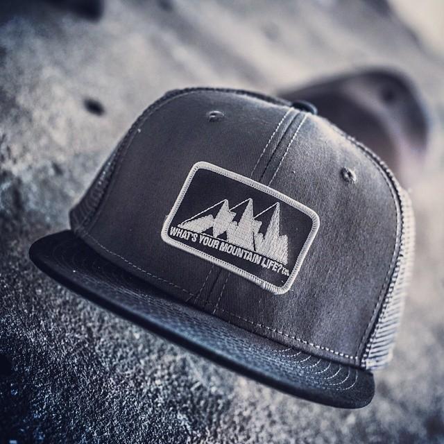 """""""what's your #MountainLife?"""" #truckerhat #alpine #boarding #BMX #biking #bouldering #camping #cycling #canoeing #downhill #flyfishing #hiking #kayaking #longboarding #mountainbiking #paddleboarding #roadbiking #rockclimbing #snowboard #ski..."""