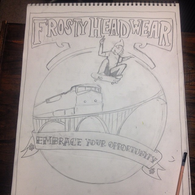 New #Art by @dreabeats coming soon to www.frostyheadwear.com #EmbraceYourOpportunity #FrostyHeadwear