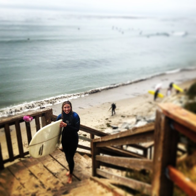 Trading the skis in for a longboard. Not a bad exchange.... #surfing #SantaCruz #summerofshred