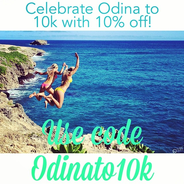 Thank you all for sharing and tagging your friends! We want to extend a 10% discount on anything in our online shop to all of our fans and followers for one day only! Go to shop.odinasurf.com and use the code Odinato10k in the promotion code box at...
